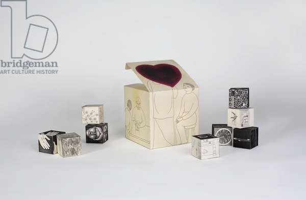 Untitled (artist edition), c.1968 (printed drawings on cardboard cubes)