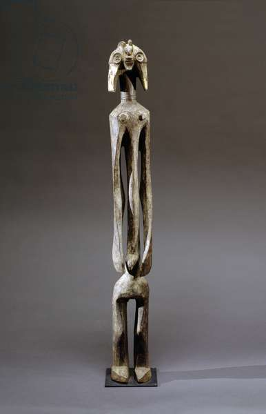 Mumuye male figure, Nigeria, late 19th-early 20th century (wood)