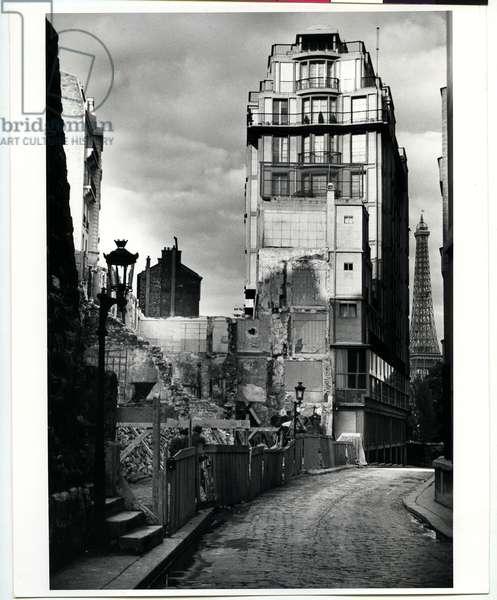The Eiffel Tower from Passy, Paris, 1935 (silver gelatin print)