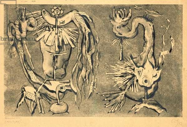 Fruchtewesen, 1947 (monotype)