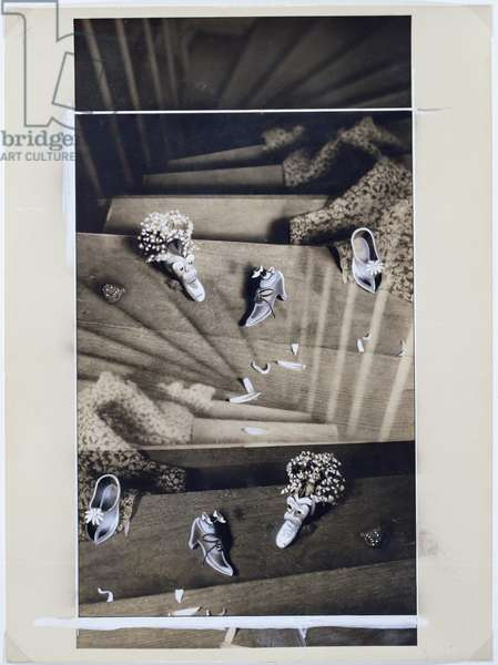 Le Coeur de pic, Plate XVII, 1936 (gelatin silver print with gouache heightening)