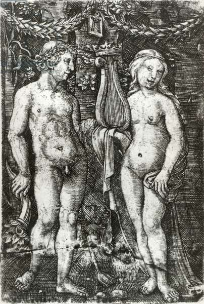 Hercules and Muse, 1521-26 (engraving)