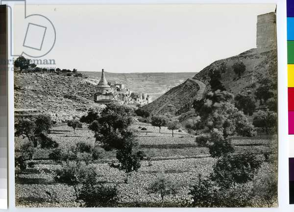 The Valley of Jehoshapat, 1858 (b/w photo)