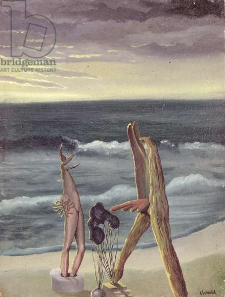 Surrealist Personages by the Sea, 1934 (oil on cardboard)