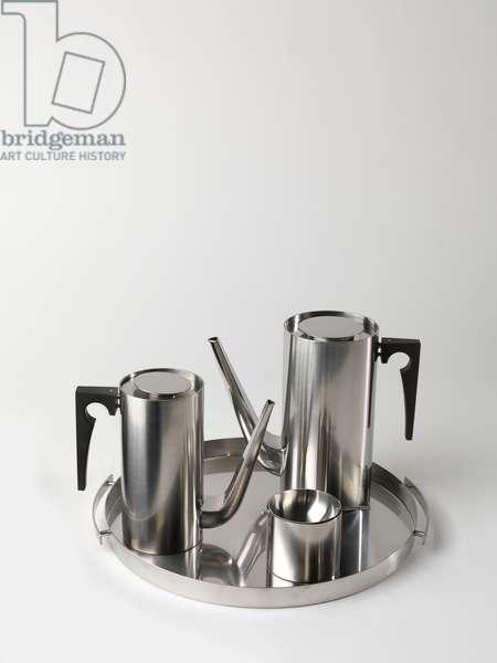 Cylinda-Line coffee set, 1967 (stainless steel & vinyl)