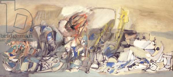 The Long Valley, 1955 (oil on canvas)