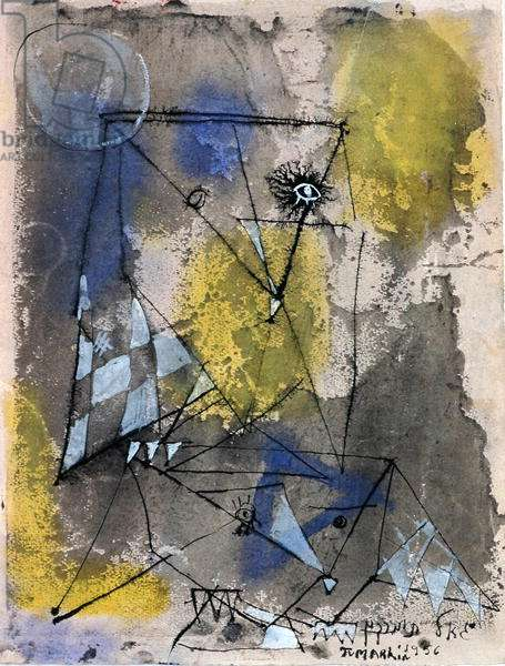 Untitled, 1956 (gouache on paper)
