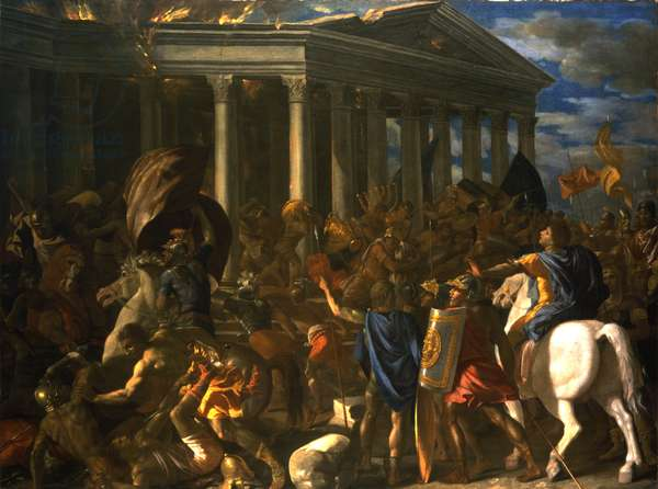 The Destruction and the Sack of the Temple of Jerusalem, 1625-26 (oil on canvas)