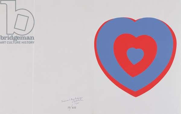 Fluttering Hearts, 1936/61 (silkscreen)