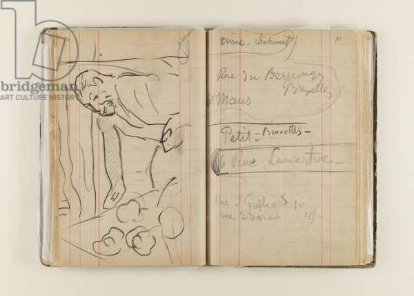 Pages from the 'Arles and Brittany Sketch Book, 1888-1901 (pencil & charcoal on paper)