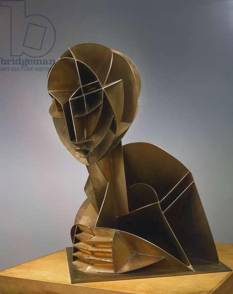 Constructed Head No. 2, 1953-57 (phosphor bronze)