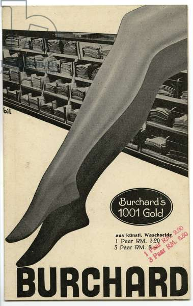Advertisment for artificial silk stockings, c.1932 (offset print)