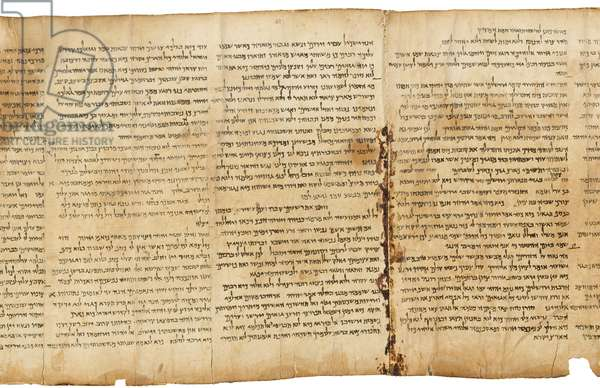 The Great Isaiah Scroll, col.43-45, Qumran Cave I, c.100 BC (parchment)
