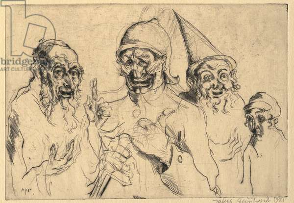 The Four Sons, 1921 (drypoint)