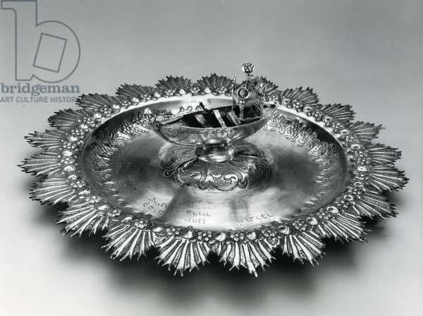 Alms Plate, 1864 (silver)