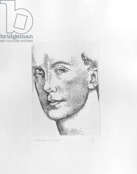 Portrait of Paul Eluard (1895-1952) (etching)