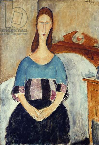 Jeanne Hebuterne, 1918 (oil on canvas)