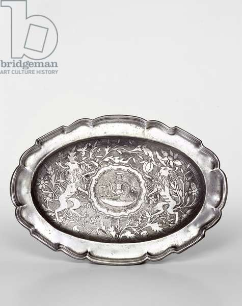 Tray for Priestly Laver (engraved pewter)