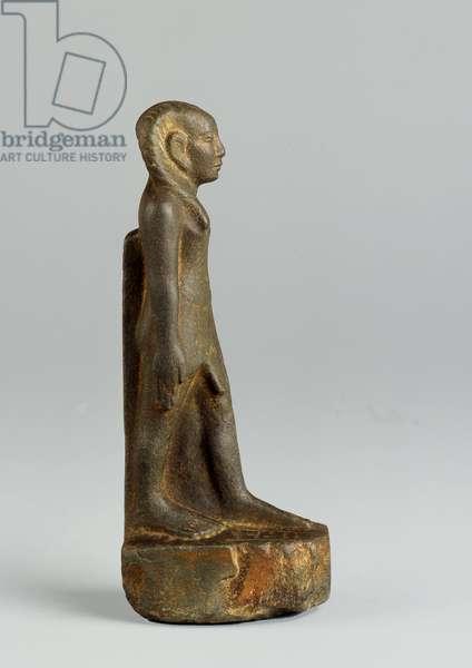 Statue of Sobekhotep, Elder of the Portal, Late Middle Kingdom (grey slate)