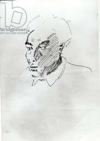 Self Portrait, c.1919 (ink on paper)