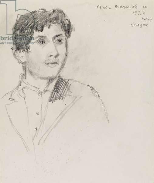 Portrait of Peretz Markish, 1923
