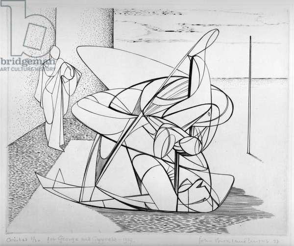 Combat, 1937 (etching & soft ground etching)