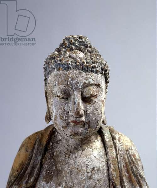 Seated Buddha (wood) (detail of 275877)