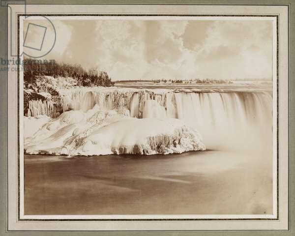 Niagara Falls, Winter, c.1880 (albumen print)