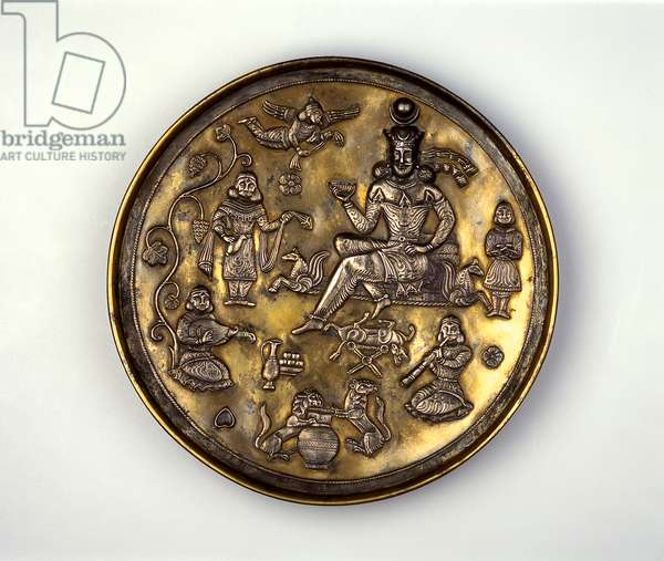 Plate with Banquet Scene (silver gilt)