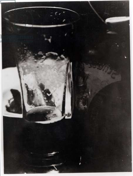 The Glass of Beer, 1937 (gelatin silver print)