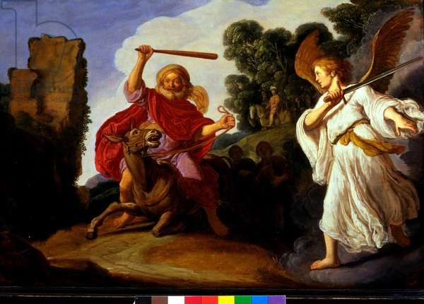 Balaam and his Ass, c.1620 (oil on panel)