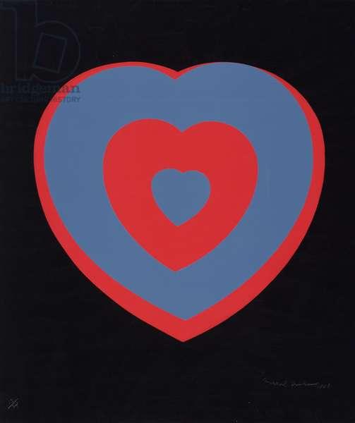 Fluttering Hearts, 1936/68 (silkscreen)