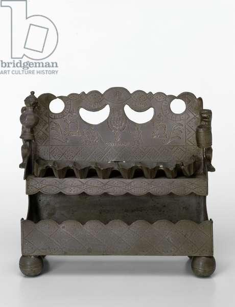 Hanukkah Lamp, 1756 (metal)