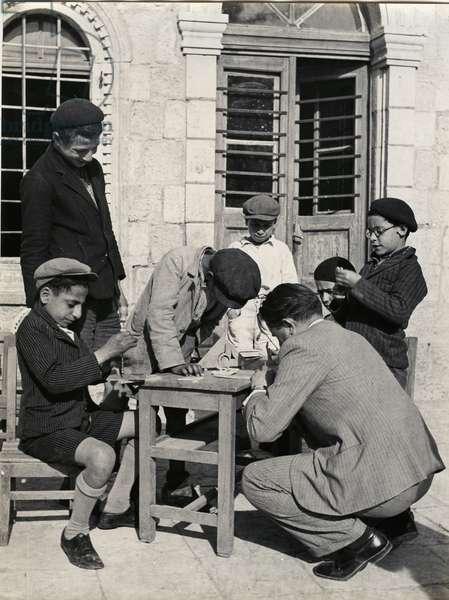 Children's Club [mo'adon], Jerusalem, 1937 (b/w photo)