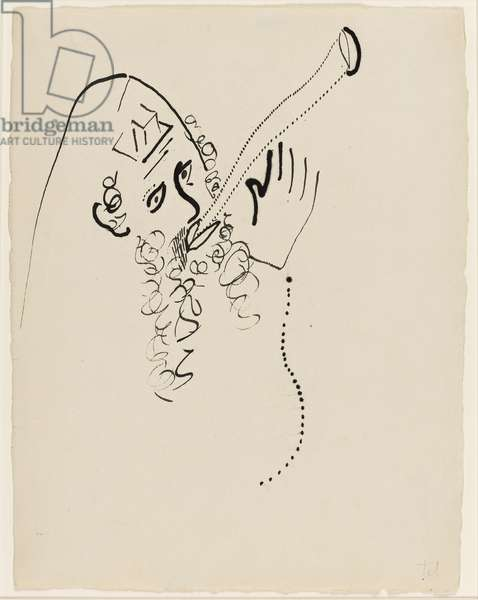 """The Great Forgiveness, Illustration for """"Lights On"""" by Bella Chagall. 1945"""