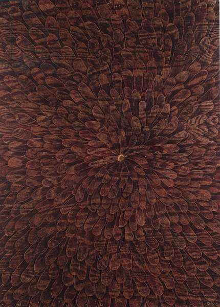 Untitled (Flower), 2005 (ball pen on wood)