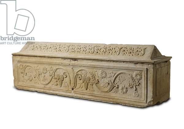 Sarcophagus from the 'Tomb of the Nazirite', Mount Scopus, Jerusalem, Herodian Period (hard limestone)