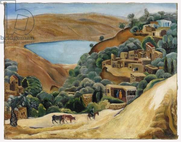 Tiberias Landscape, 1928 (oil on canvas)