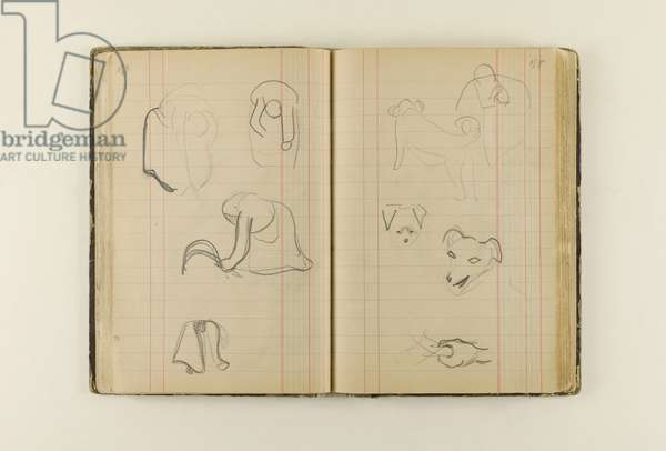 Sketchbook from Bretagne and Arles, 1888 (charcoal & pencil on paper)