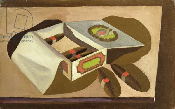 Cigar Box, 1930 (oil on canvas board)