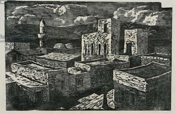 Tiberias, 1940 (wood engraving)