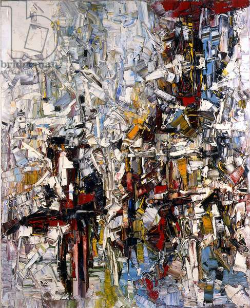 Labours sous la neige, 1959-60 (oil on canvas)