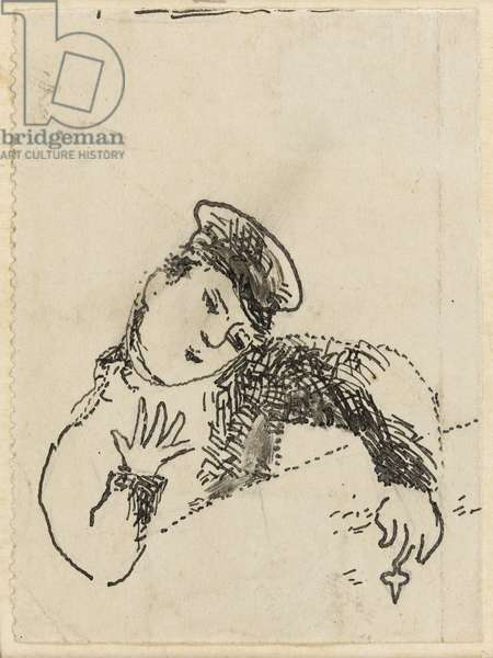 "Abrachka or the tinplate top, illustration for ""The lights on"" by Bella Chagall, 1945"