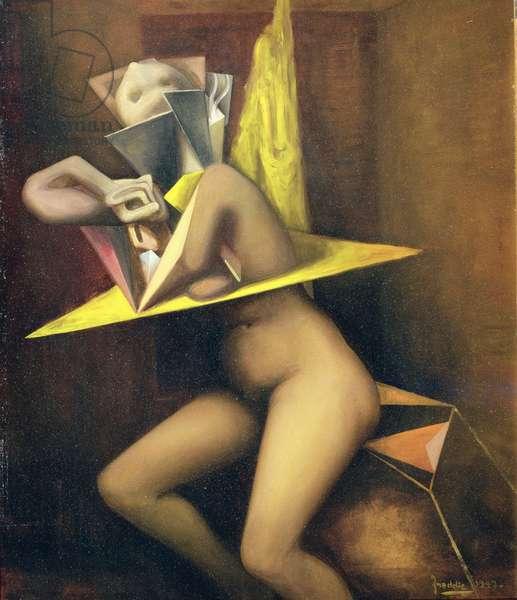Nude, 1947 (oil on masonite)