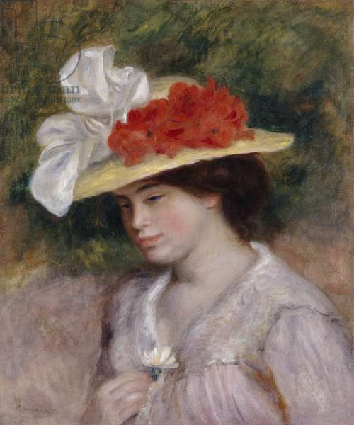 Woman in a Flowered Hat, 1889 (oil on canvas)
