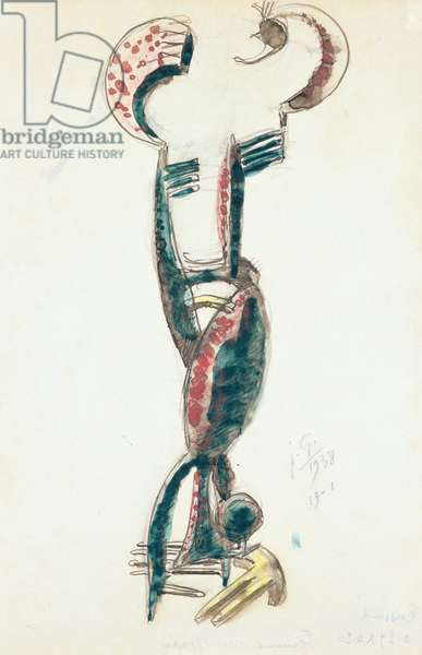 Woman in the Mirror, 1938 (w/c, ink, gouache & crayon on paper)