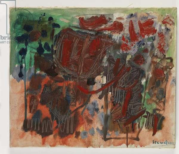 Etude, 1962 (oil on canvas)