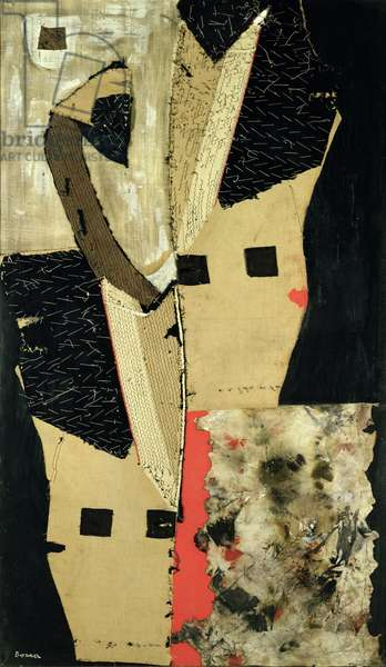 High Society, 1959 (collage on canvas)