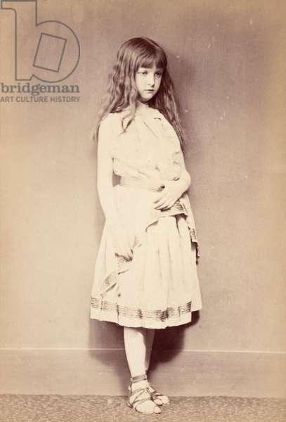 Xie standing, c.1875 (albumen print)