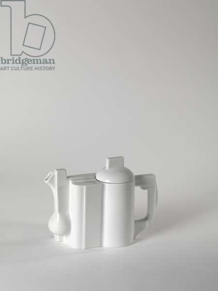 Constructivist Teapot, 1923 (glazed porcelain)